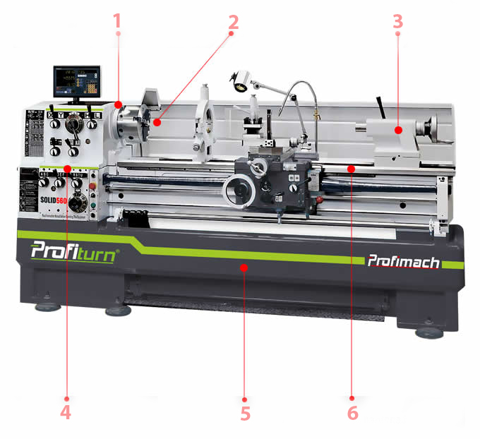 conventional lathe solid series profimach structure